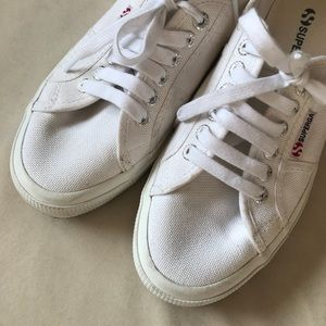 Superga Shoes - Retro Superga Cotu White Canvas Sneakers